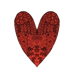 Love valentine heart sketch for your design vector