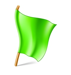 Green flag vector