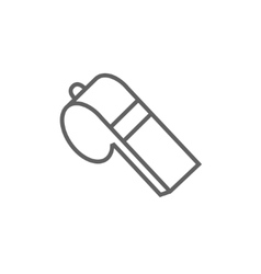 Whistle line icon vector