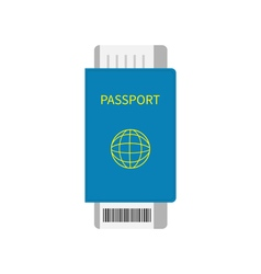 Passport and air boarding pass ticket icon with vector