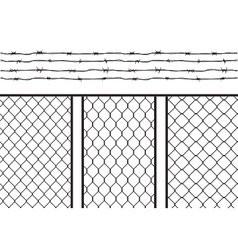 Wire fence set pack with barb wire barbed wire vector