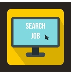 Search job icon in flat style vector
