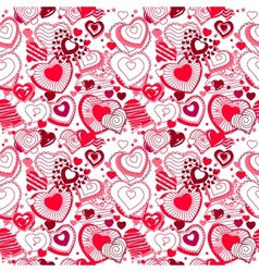 Background made of ornate hearts vector image vector image