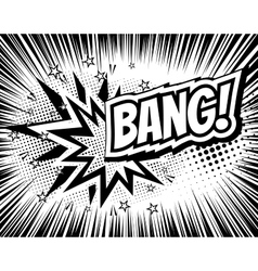 Bang comic cartoon wording pop-art style vector