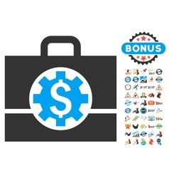 Bank career options icon with 2017 year bonus vector