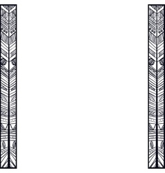 Boho style black and white design vector image vector image