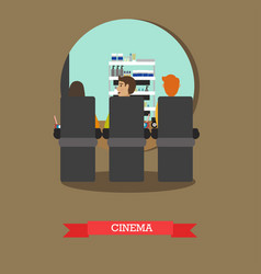 Cinema concept in flat style vector