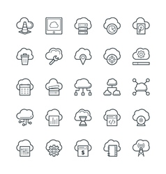 Cloud computing cool icons 2 vector