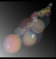 Colored sunlight lens flare vector