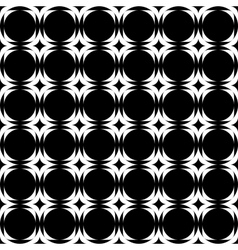 Design seamless monochrome geometric background vector image vector image