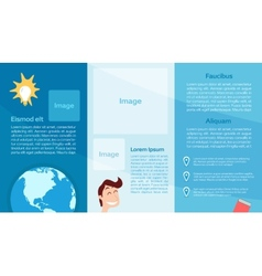 Education flyer template vector