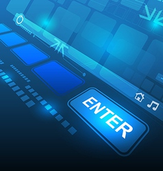 enter button technology concept vector image vector image