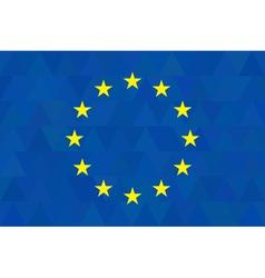 European union flag on unusual blue triangles vector image vector image