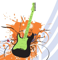 grunge guitar vector image
