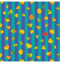 Heart autumn seamless pattern vector image vector image