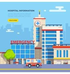 Hospital flat vector