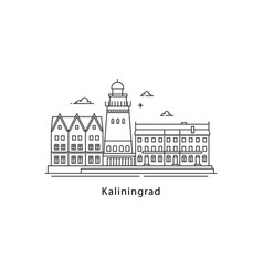 kaliningrad logo isolated on white background vector image vector image