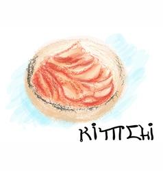 Kimchi korean food vector