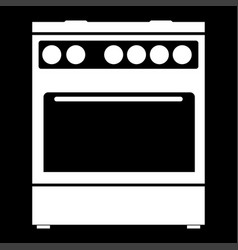 Kitchen stove it is the white color icon vector