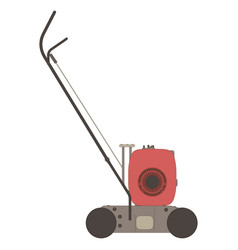 Lawn mower icon garden grass silhouette mowing vector