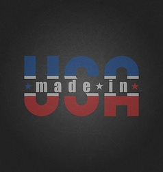 Made in the USA worn poster on the old grey vector image vector image
