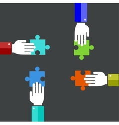 modern teamwork background vector image