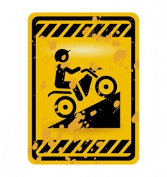 Motor bike trail sign vector