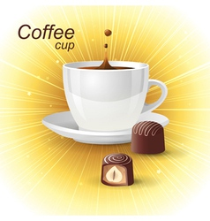 Realistic cup vector