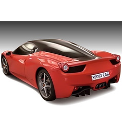 Red Sports Car vector image vector image