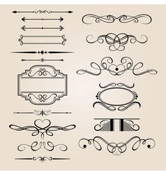 set border design element vector image