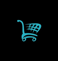 shopping cart market logo vector image