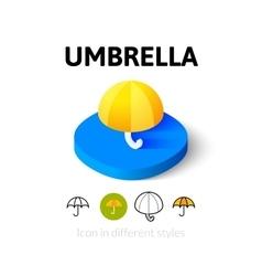 Umbrella icon in different style vector image