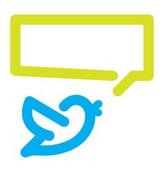 Bird tweets icon vector