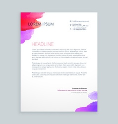 Creative ink business letterhead vector