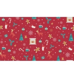 Bright christmas chuck for fabric vector