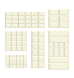 White chocolate bar variation pattern vector
