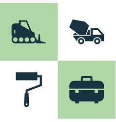 Industry icons set collection of equipment vector