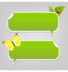 Set nature speech bubble frames vector