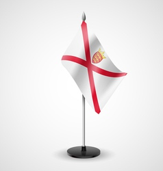 Table flag of jersey vector