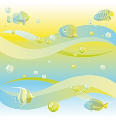 Dreamy sea background vector