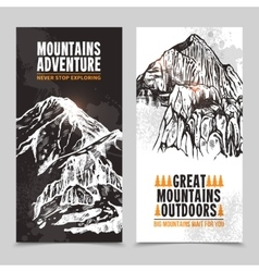 Mountain tourism 2 vertical banners vector