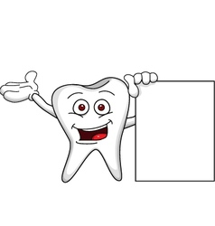 tooth with blank sign vector image