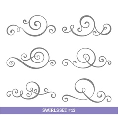 Calligraphic swirls collection vector