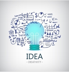 Brainstorm  idea business vector