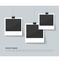 Background with old style photo frames vector