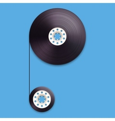 A of a recordable babin of tape cassette Letter P vector image