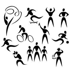 Active healthy people vector