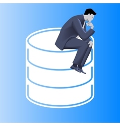 Big data business concept vector