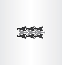 black arrow icon element sign vector image