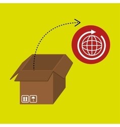 box pack carton delivery vector image